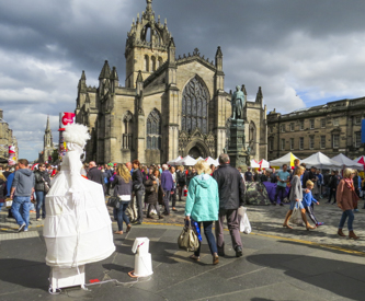 Fringe Festival at St. Giles Cathedral area